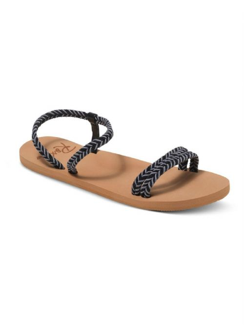 ROXY WOMENS FLIP FLOPS.NEW LUANA STRAPPY BLACK THONG BEACH SANDALS 7S/550/BLK